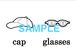 Clothes 絵+英単語 フラッシュカードデータ(白黒)
