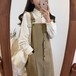 【送料無料】全2色♡ ガーリー系♡ジャンパースカート♡ミモレ丈