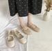 レディース ストラップシューズ フラットシューズ 革靴 ラウンドトゥ ぺたんこ 合皮 革 クリーミーホワイト アプリコット 春秋 大人かわいい オフィス ガーリー 韓国
