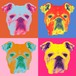 Panel pop art illustration No.2/Portraits of Dogs, Cats and Pets