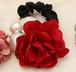 赤 ヘアゴム パールとバラ