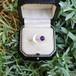 天然石アメジスト 天然石アメジスト 月と星の指輪 MOON STAR RING スターリングシルバー フリーサイズリング