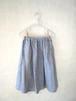 SALE!! リネンシャンブレーギャザースカート