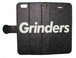 GRINDERS iPhone case notebook type (Black)