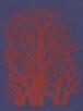 シルクスクリーン  〈題名〉 【赤い樹】