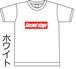 ドライ ボックスロゴTシャツ white&black