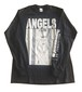 """ANGELS""long sleeve T-shirt (Black / MERZ-0180)"