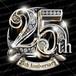 25周年PSD素材 エンブレム仕様。豪華でキラキラPhotoshop素材で周年を彩ろう!