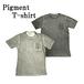 ダメージ加工ピグメント半袖Tシャツ