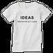 IDEAS/ロゴTシャツ 303W-WH-レディース