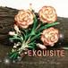 英国 EXQUISITE★カーネーション ヴィンテージ エナメル バースデー ブローチ,1950s 母の日