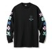 FTC / FLOWERS L/S TEE -BLACK-