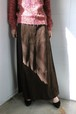Brown suède long skirt