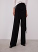STRAIGHT LEG TROUSERS WITH OVERLAYER