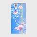 【ARROWS NX (F-02H)】Peony Dream 芍薬の夢 スカイブルー ツヤありハード型スマホケース