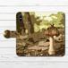 #024-007 手帳型iPhoneケース 手帳型スマホケース きのこ 《キノコ きのこ》 作:チノリ オリジナルデザイン 植物系 かわいい系 iPhoneX対応 全機種対応 Xperia ARROWS AQUOS Galaxy HUAWEI Zenfone