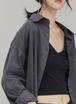 【送料無料】シャツ トップス ブラウス 春 秋 コリアンスタイル オールスタイル グレー ブラック S M L