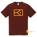 BIGフラッグ×キャラクターTシャツ(バーガンディー×山吹色)