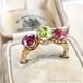 Victorian Chrysoberyl Pink Tourmaline Ring