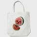 Watermelon 白 トートバッグ