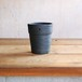 Black hanging terra cotta pot-M