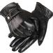 スマホ 対応 人気 レザー グローブ インナー フリース メンズ 手袋 バイク