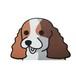 イングリッシュコッカースパニエル(小) 犬ステッカー