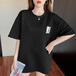 【tops】合わせやすいカジュアル  ラウンドネックチェック柄2色Tシャツ M-0266