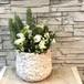 葉牡丹と白いお花を使ったホワイトギャザリング寄せ植え