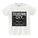 TSUBOMIN / BANDANA TSUBOMIN CITY T-SHIRT WHITE x BLACK