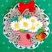 985 マーガレットの花かご ブローチ