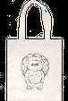 HAND-DRAWN TOTE BAG [TANUKI] ドローイングトートバッグ [タヌキ]