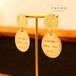 【受注製作】K18 GP真鍮 メッセージピアス - HAPPY -