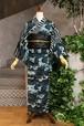 JUNKO KOSHINO浴衣 レディース ポリエステル(セオα) 洗える 仕立上がり 隼№56 迷彩 2020