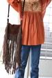 70's suede fringe bag