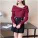【2点セット】2色/デザインリボントップス+ミニスカート ・18547