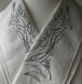 刺繍半衿・アールヌーボーの鳥