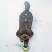 D-163 プードル(チョコ色)- ペットの振り子時計