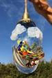 現品販売『青空を舞う虹の鳥』ガラスライト/ペンダントライト/E17ソケット