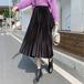 3色 classical プリーツフレアスカート c2402