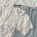 綺麗系服  ファンアート  ファッション  POLOネック  半袖  シャツ・ブラウス・トップス