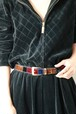 vintage velours multicolor belt