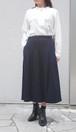 藍染 スカート  綿 ガーゼ