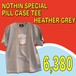 NOTHIN'SPECIAL / PILL CASE TEE  HEATHER GREY