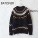 BATONER /バトナー・ Mohair Nordic Crew Neck (Men's)