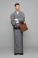 きもの / 片貝木綿 / Herringbone / Gray(With tailoring)
