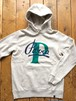 [ by Parra ] painterly script hooded sweater