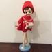 ポーズ人形 赤ドレスとわんこ