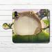#080-034 手帳型iPhoneケース 手帳型スマホケース 全機種対応 iPhoneXS/X おしゃれ かえる Xperia iPhone5/6/6s/7/8 かわいい カエル Galaxy ARROWS AQUOS HUAWEI Zenfone タイトル:蛙の池 作:星宮あき