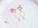 5月誕生石/アベンチュリンとフープお花イヤリング(ピアス)